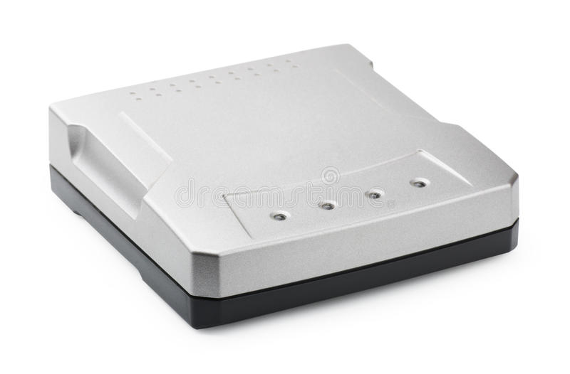 ADSL modem. On a white background royalty free stock photography