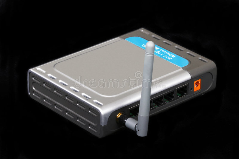 ADSL Router. Internet access gateway, ADSL router royalty free stock photos