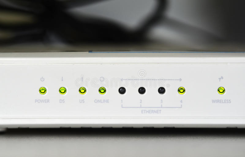 Adsl wifi router modem. This is an adsl wifi router modem royalty free stock photos