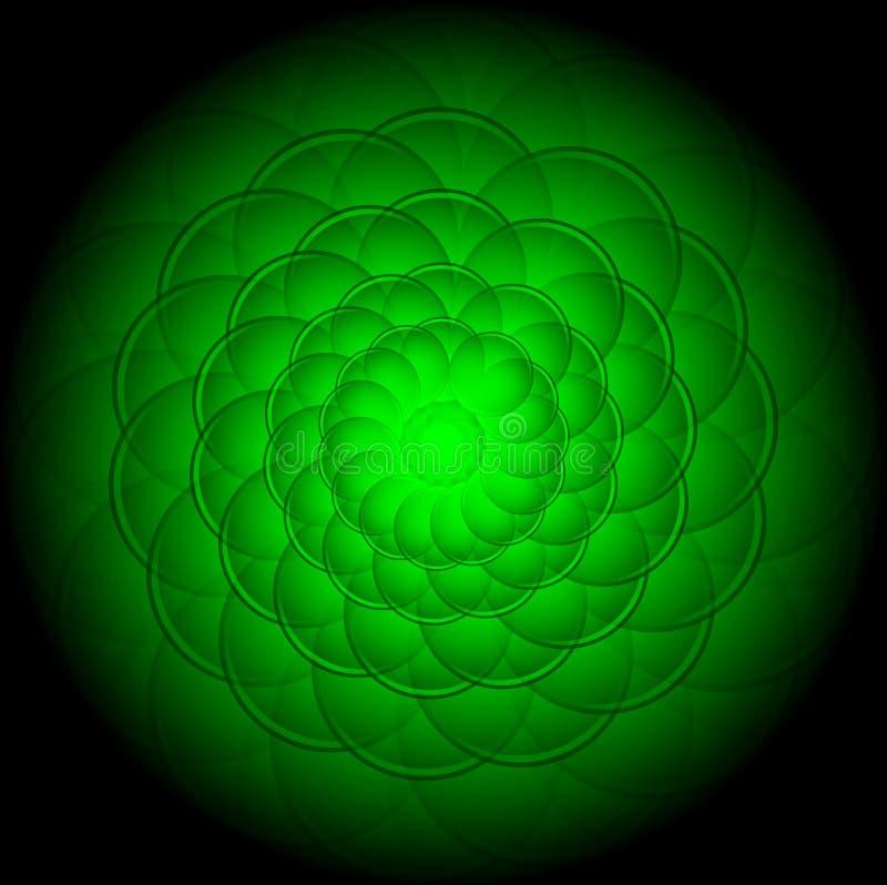 Adstract绿色背景 皇族释放例证