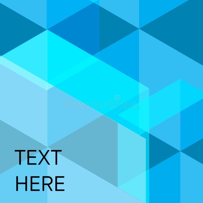 Adstract vectorpictogram als achtergrond met transparant malplaatje in blu royalty-vrije illustratie