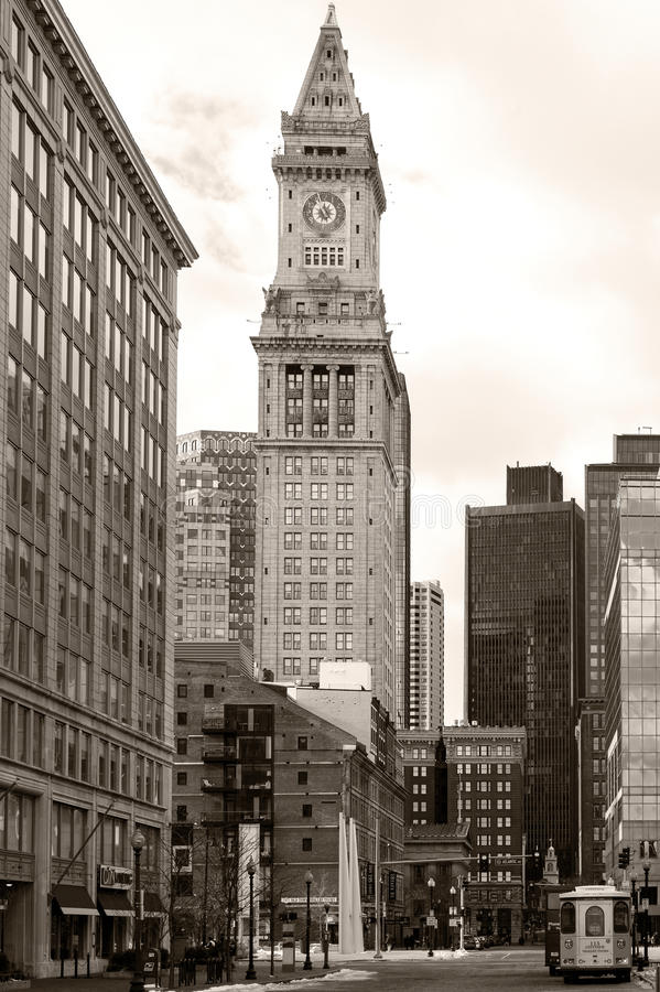Aduanas viejo de Boston fotografía de archivo libre de regalías