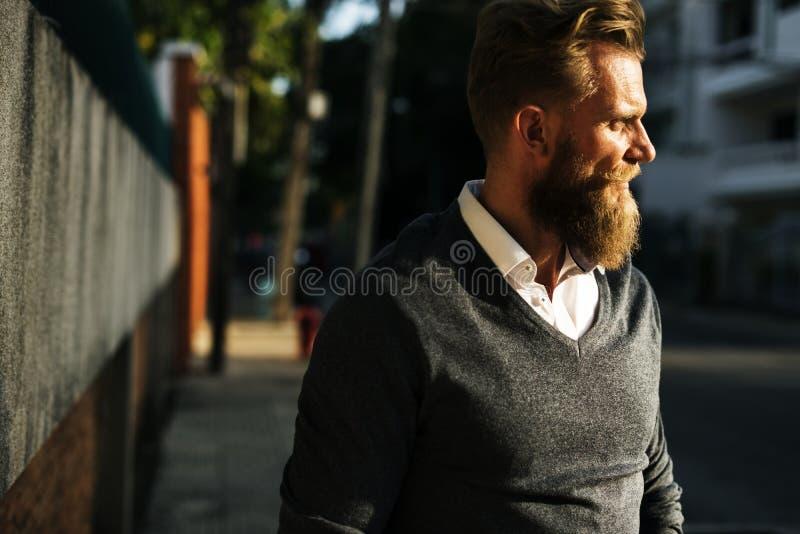 Adult, Alone, Beard royalty free stock photography