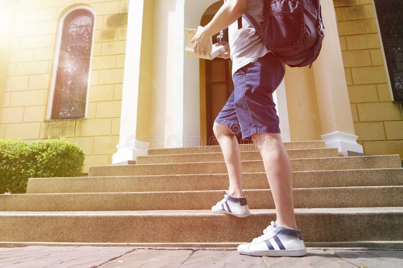 Adult, Architecture, Backpack stock photos