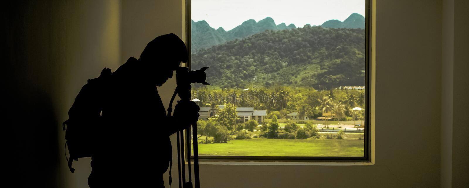 Adult, Backlit, Building royalty free stock photo