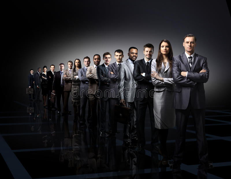 Adult black boss business businessman businesspeople camera colleague communication royalty free stock photography