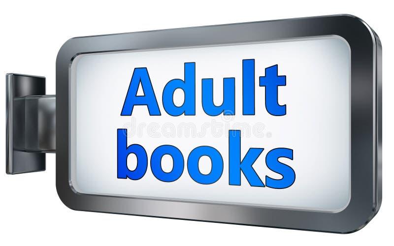 Adult books on billboard royalty free illustration
