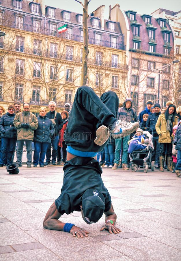 Adult Break Dancer on the Street royalty free stock photography