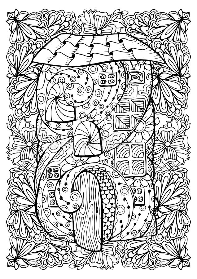 Drawing Book Cover Design For Adults : Adult coloring book cover design mono color black ink
