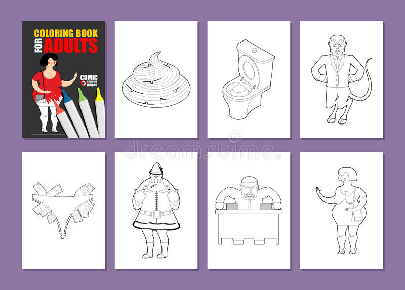 Adult Coloring Book. Humor Drawing Major Coloring. Prostitute In ...