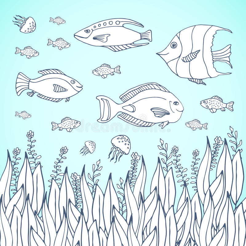 coloring book page coloring page with aquarium