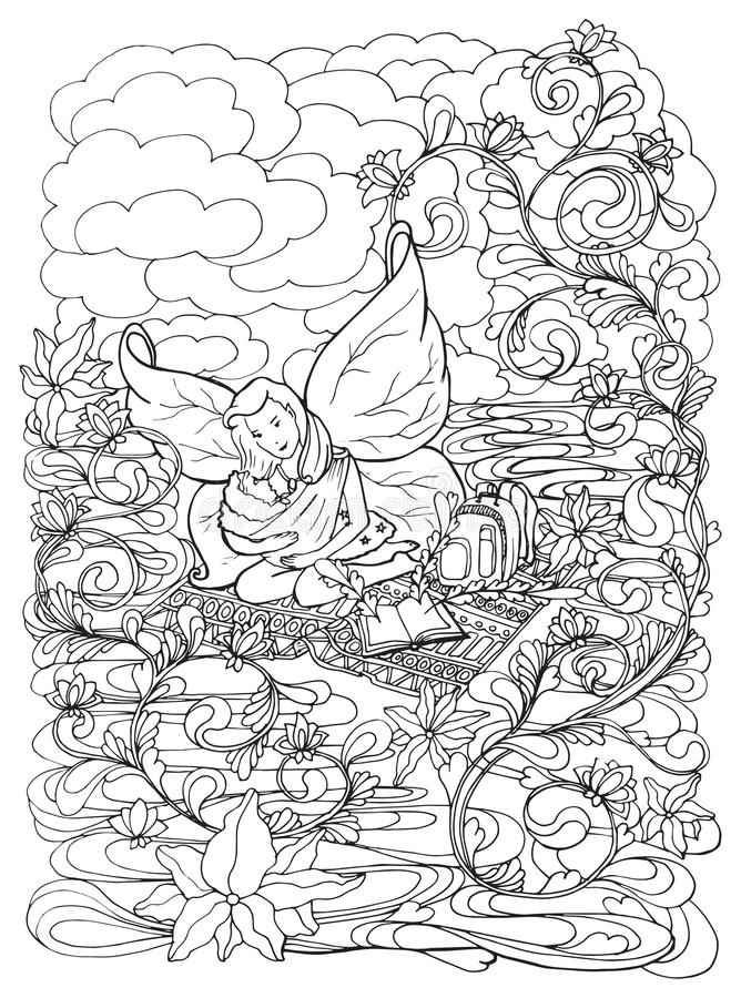 Breastfeeding Mother Adult Coloring Page