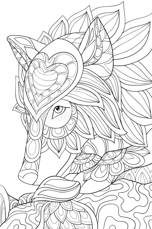 Wolf 2 - Wolves Adult Coloring Pages   900x600