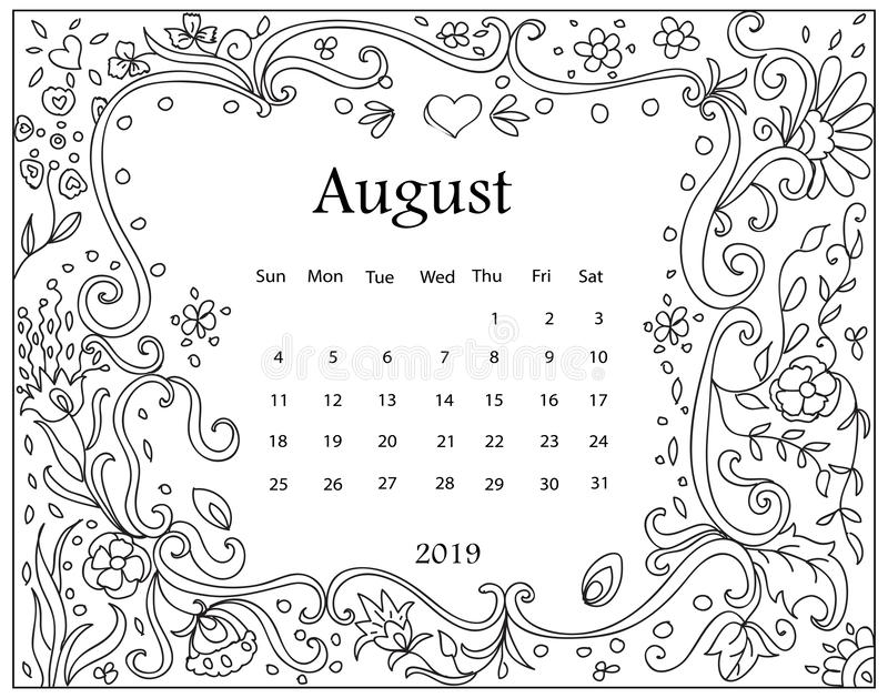Download Large Size Of Coloring Pages - Calendar 2019 A4 Printable ... | 629x800