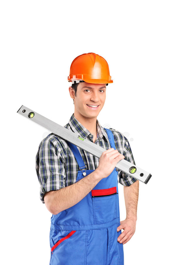 Download Adult constructor worker stock photo. Image of pose, cheerful - 18887862
