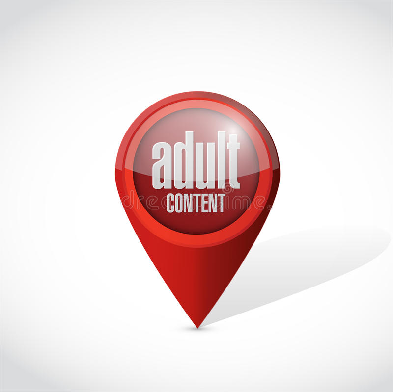 adult content pointer illustration design stock illustration