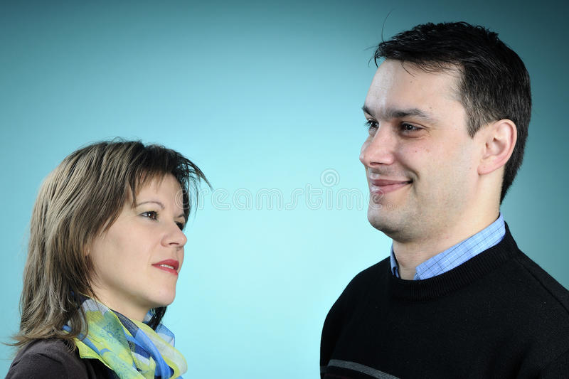 Adult Couple Communicating Stock Images