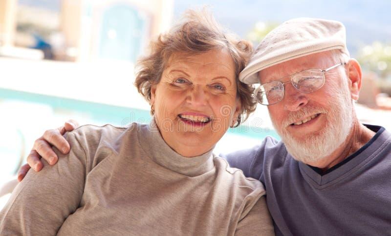 adult couple happy senior στοκ φωτογραφίες με δικαίωμα ελεύθερης χρήσης