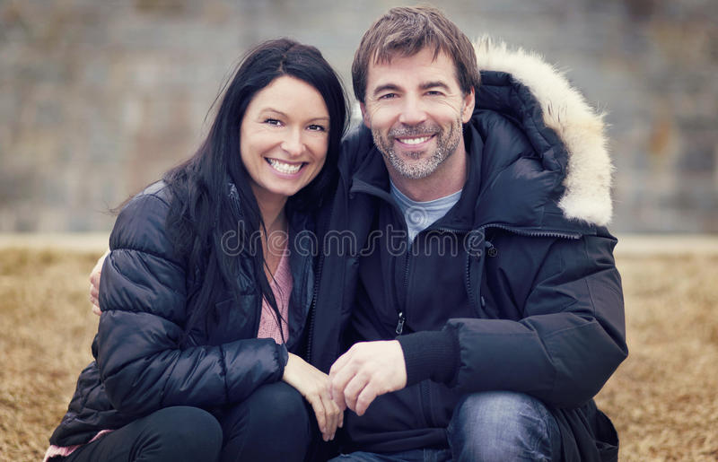 Adult Couple In Love. Portrait Of A Adult Couple In Love stock image