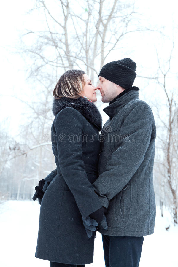 Adult couple resting in park royalty free stock photos