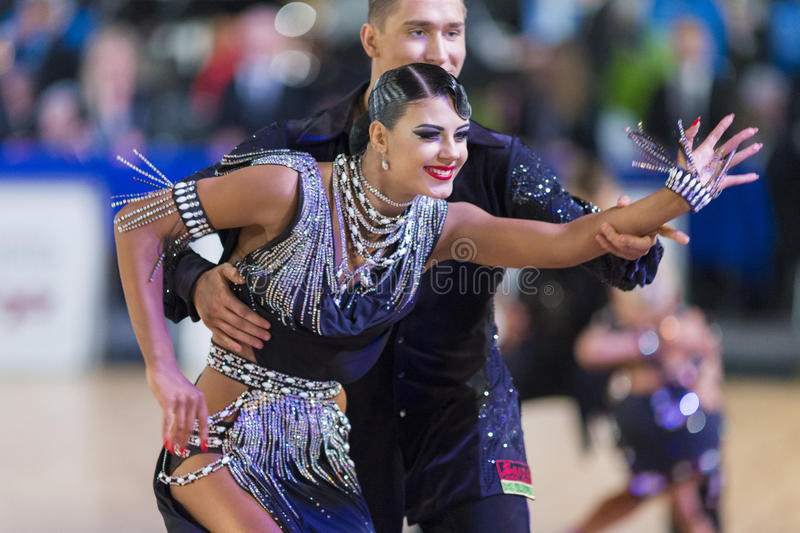 Download Adult Dance Couple Performs Youth Latin-American Program On The WDSF Baltic Grand Prix-2106 Championship Editorial Stock Photo - Image: 83708658