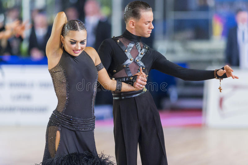 Download Adult Dance Couple Performs Youth Latin-American Program On The WDSF Baltic Grand Prix-2106 Championship Editorial Image - Image: 83708775