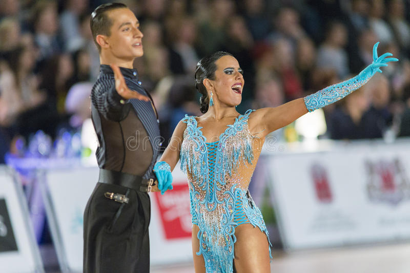 Download Adult Dance Couple Performs Youth Latin-American Program On The WDSF Baltic Grand Prix-2106 Championship Editorial Stock Photo - Image: 83709043