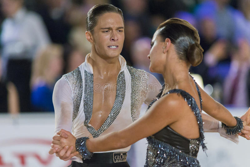 Download Adult Dance Couple Performs Youth Latin-American Program On The WDSF Baltic Grand Prix-2106 Championship Editorial Stock Photo - Image: 83710353