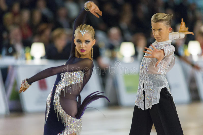 Download Adult Dance Couple Performs Youth Latin-American Program On The WDSF Baltic Grand Prix-2106 Championship Editorial Stock Image - Image: 83710869