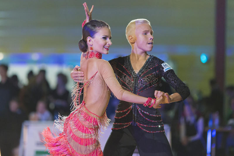 Download Adult Dance Couple Performs Youth Latin-American Program On The WDSF Baltic Grand Prix-2106 Championship Editorial Photo - Image of professional, ballrooms: 83715251