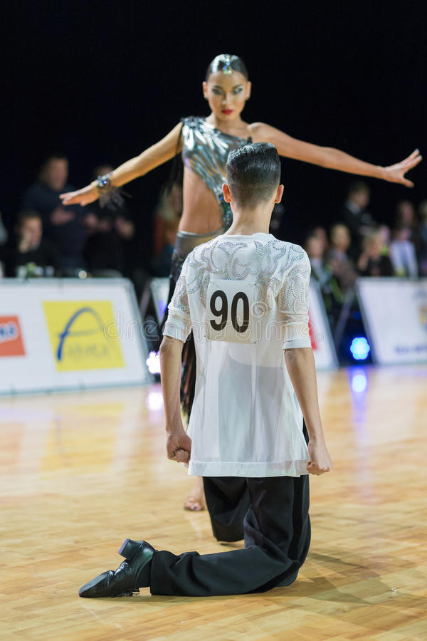 Download Adult Dance Couple Performs Youth Latin-American Program On The WDSF Baltic Grand Prix-2106 Championship Editorial Photography - Image: 83722567