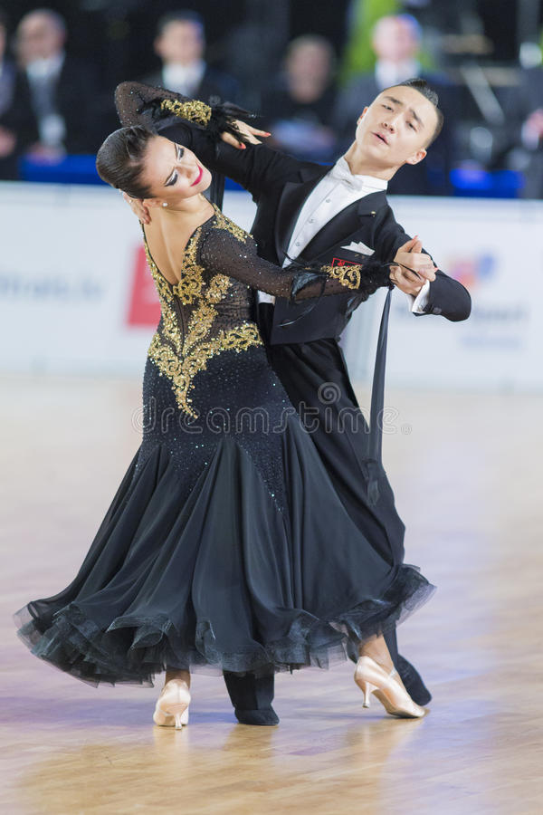 Download Adult Dance Couple Performs Youth Standard European Program On The WDSF Baltic Grand Prix-2106 Championship Editorial Stock Photo - Image: 83711803