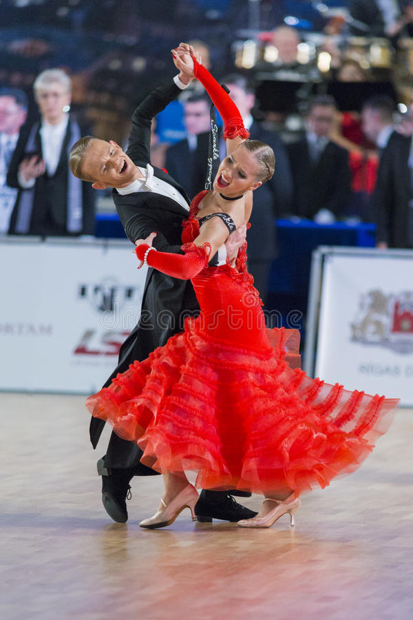 Download Adult Dance Couple Performs Youth Standard European Program On The WDSF Baltic Grand Prix-2106 Championship Editorial Stock Photo - Image: 83712138