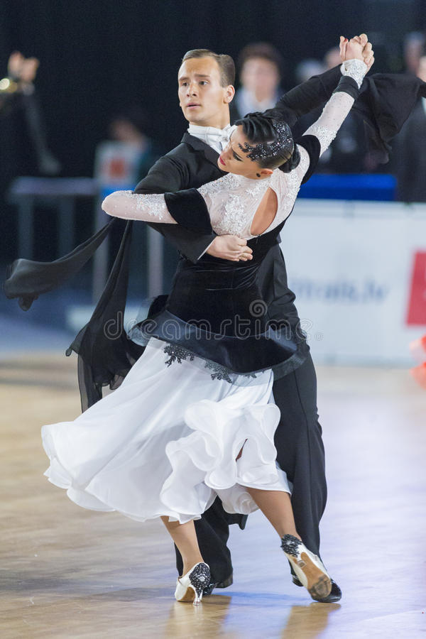 Download Adult Dance Couple Performs Youth Standard European Program On The WDSF Baltic Grand Prix-2106 Championship Editorial Stock Image - Image: 83713214