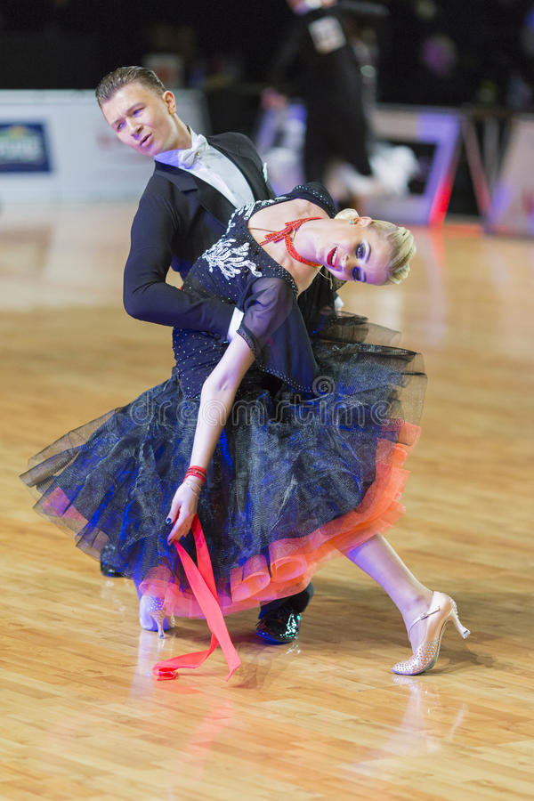Download Adult Dance Couple Performs Youth Standard European Program On The WDSF Baltic Grand Prix-2106 Championship Editorial Photography - Image: 83718657