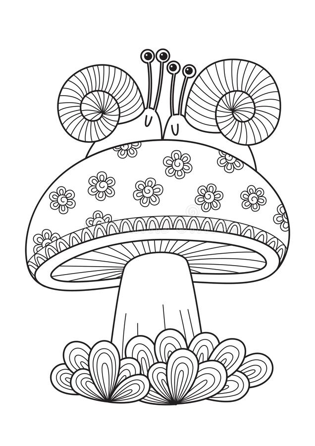 Adult Coloring Mushroom Stock Illustrations 487 Adult Coloring Mushroom Stock Illustrations Vectors Clipart Dreamstime