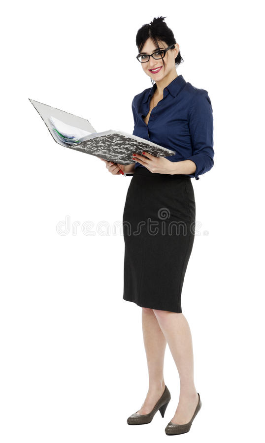Business Woman Reading Document Royalty Free Stock Photo