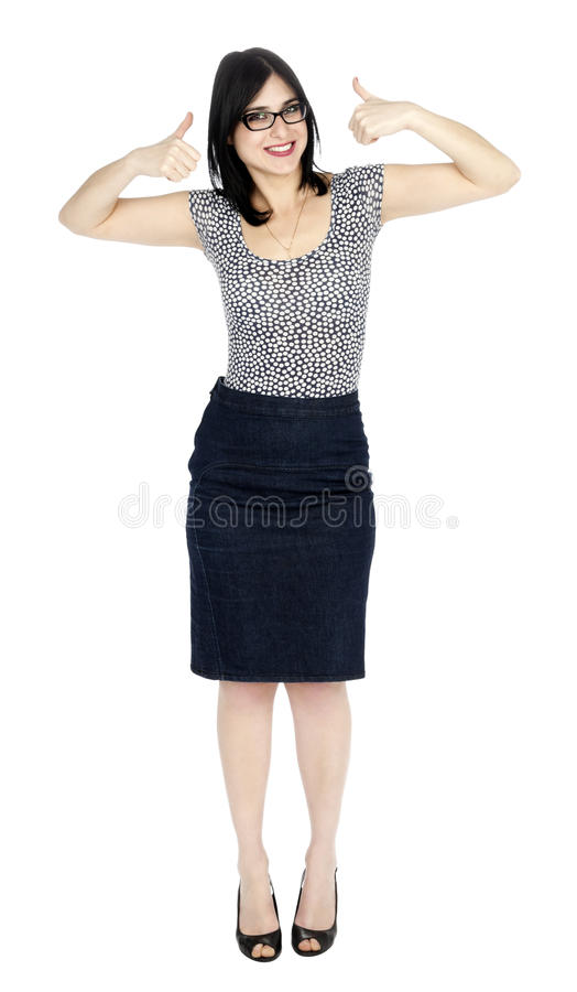 Download Isolated Success 30's Woman Stock Photo - Image of raised, beautiful: 29914304
