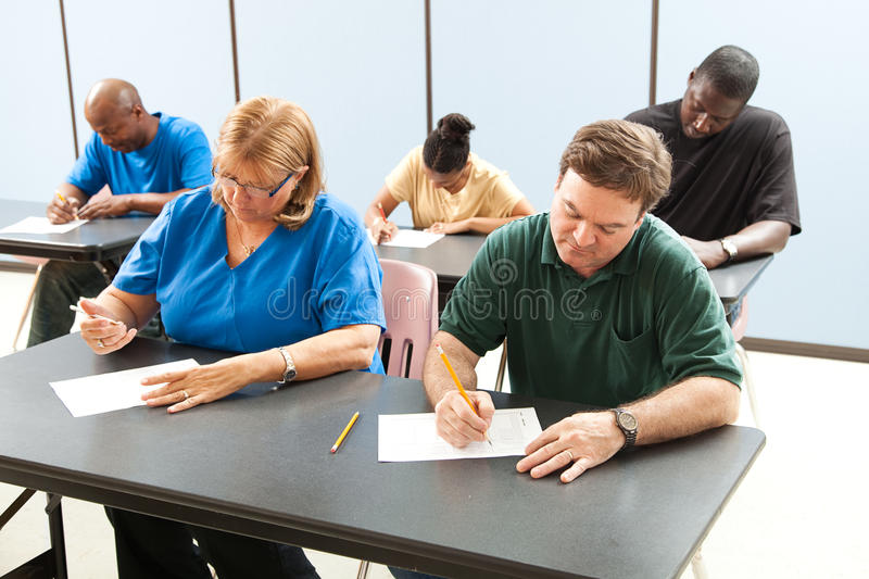 Download Adult Education - Taking Test Stock Image - Image: 20597507