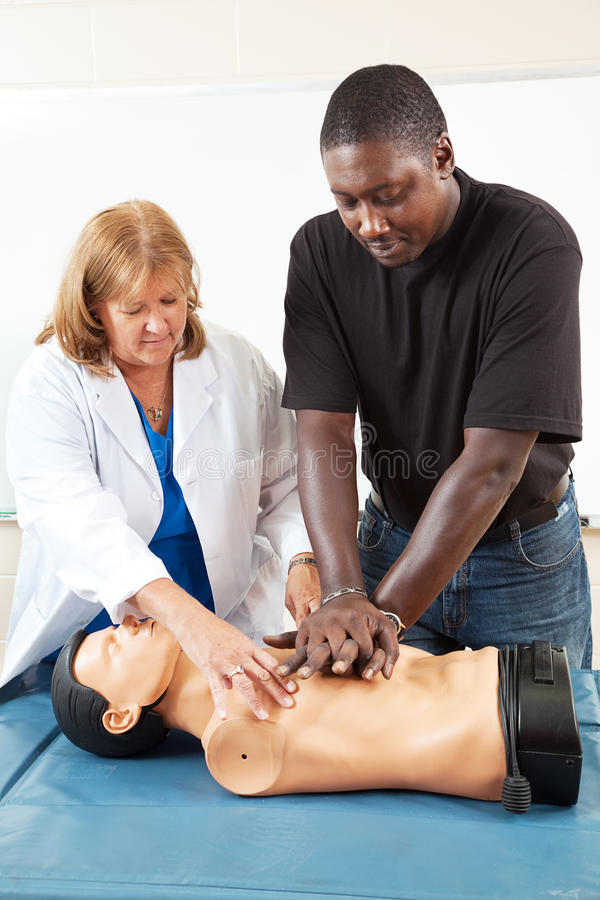Download Adult Education - Teaching CPR Stock Photo - Image: 31859312