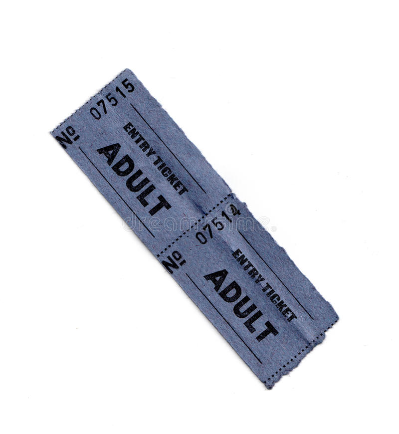 Adult entry tickets royalty free stock photos