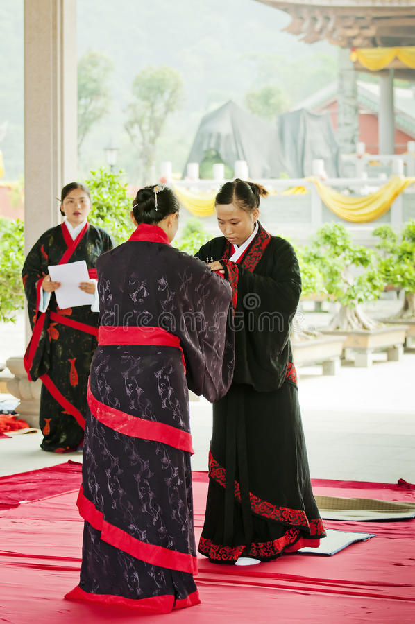 Download Adult etiquette editorial photography. Image of hanfu - 20359192