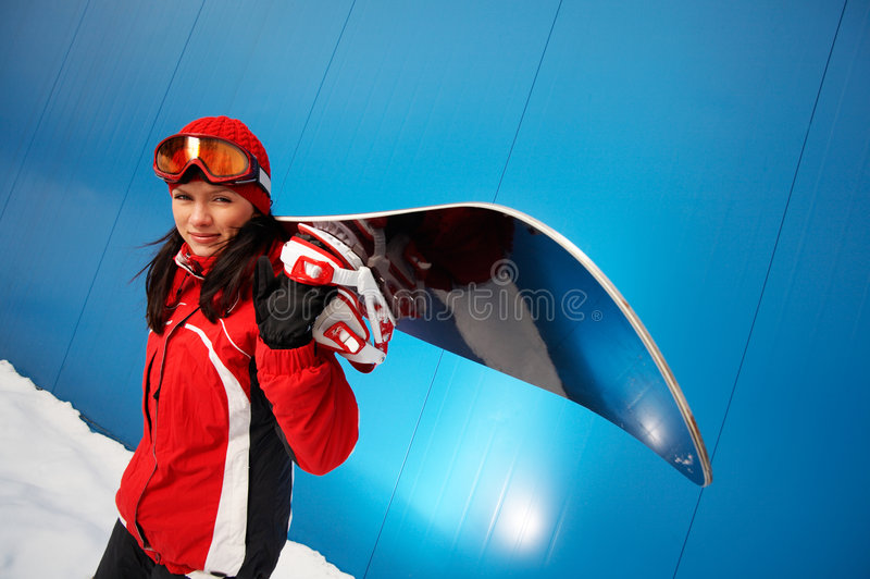 Download Adult Female (age 20-25) Snowboarder. Stock Photo - Image: 6544182