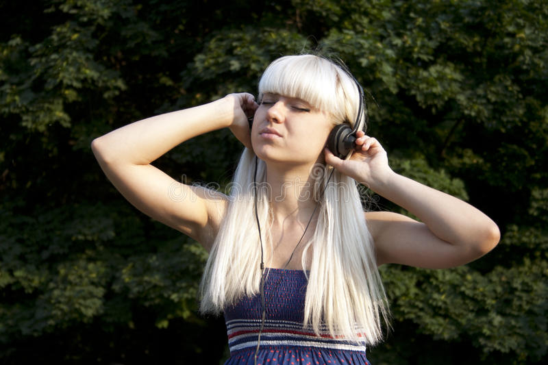 Download Adult Girl Listening To The Music Stock Image - Image: 20826547
