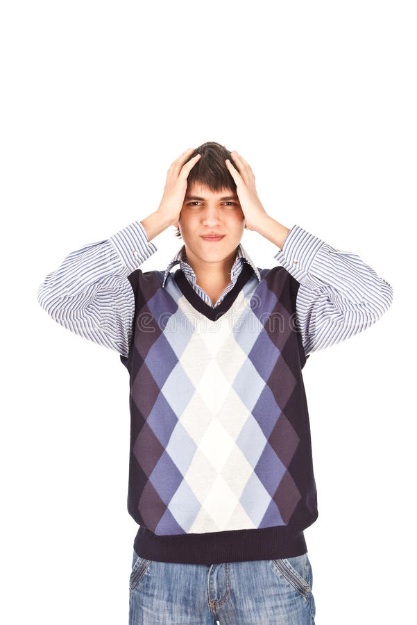 Adult guy stress isolate backout