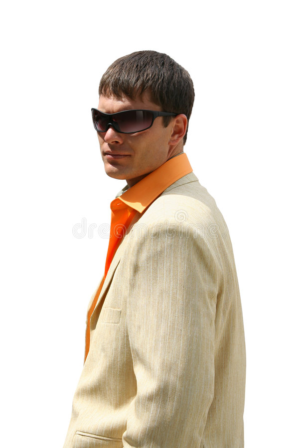 Adult Handsome Men. Posing with sun glasses stock photo