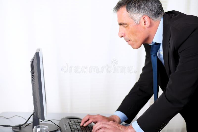 Adult latin man working royalty free stock photo