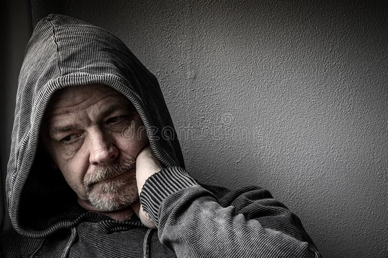 Adult Male With Depression stock photos