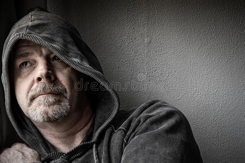 Adult Male Depression royalty free stock photo