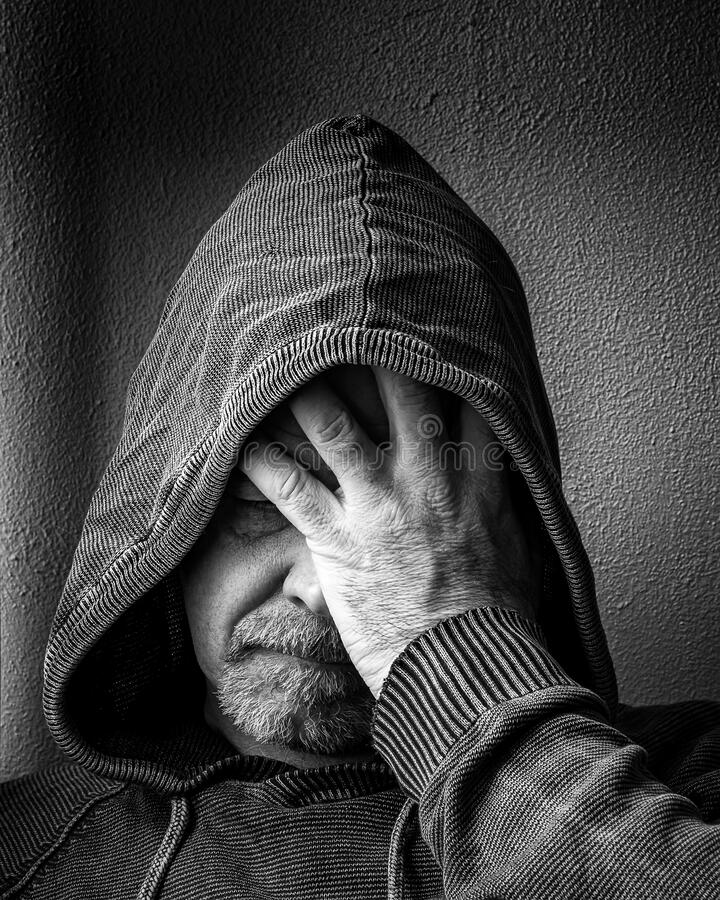 Adult Male Despair royalty free stock images